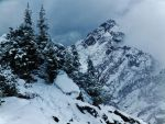 Mt. Washington from the top of Mt. Ellinor by bootlacephotography