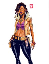 Snake Eyed Voodoo Lady Character Design by WhytManga
