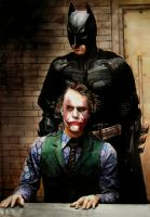 Joker and Batman by MOROTEO56