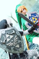 Cosplay: Link VS Dark Link - Water Temple by Evil-Siren