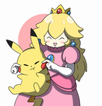 Peach and Pikachu by ShivoArt