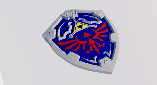 Twilight Princess Hylian Shield Commission by ronime