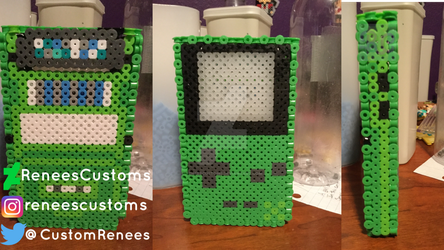 3D perler gameboy color with cartridge by ReneesCustoms