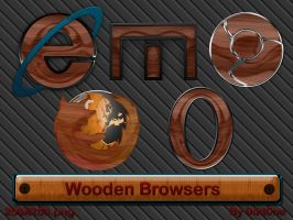 Wooden Browser Icons by 0dd0ne