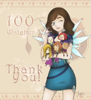 100 Watchers!!! by YummingDoe4