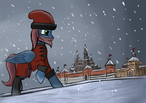 Getting cold in Muscovy by SinniePony