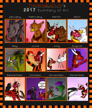 2017 Art Summary by Thornacious