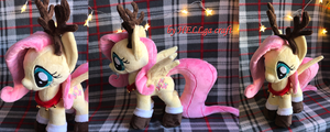 Fluttershy Christmas Deer Plush by My-Little-Plush