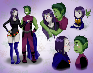 Teen Titans: BBxRae Snippets by AliAvian