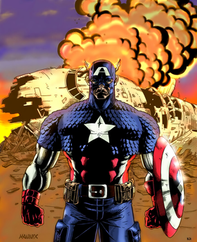Captain America by arissuparmanart