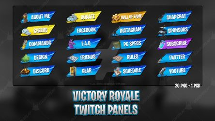 Victory Royale 2018 - Twitch Panels by lol0verlay