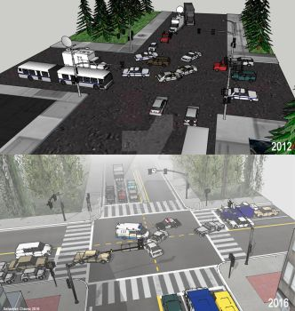 2012 vs 2016 - Intersection Collision by ArtRock15