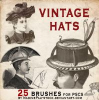vintage hats - 25 bruses by NadinePau-stock