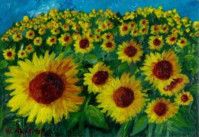Sunflowers in the Sun by WasfiAkab