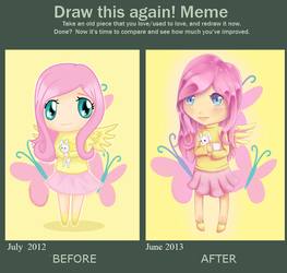 Draw this again: Fluttershy by Lightstar98