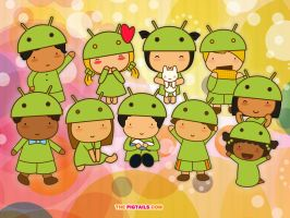 Pigtails welcomes Android by jazgirl