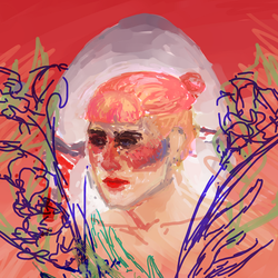 weird and unfinished self portrait by kaupaint