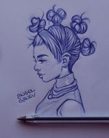 Pen Sketch II - Day #81 by AngelGanev