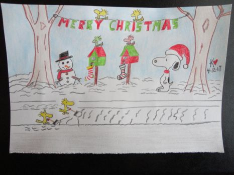 Snoopy Christmas by Keithzdarkside