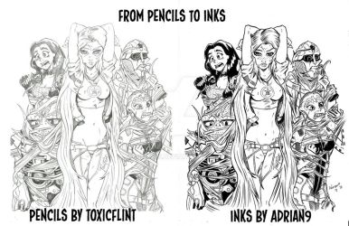 from pencils to inks by ADRIAN9