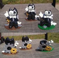 Bendy and the ink machines Cake toppers by Kat-Skittychu