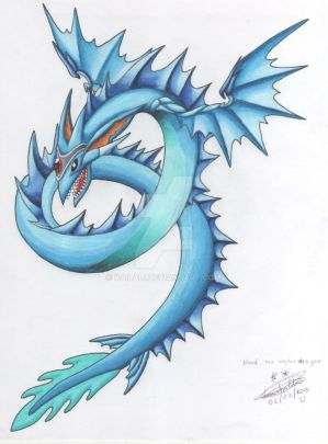 Water Summon- Niord, the water dragon by kailali