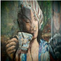 Detail from 'The tea ceremony' by langosy
