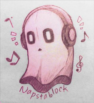 Napstablook by Sentaji