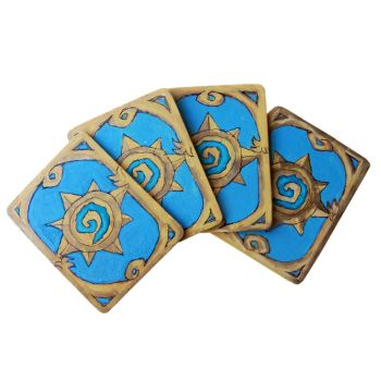 Make Hearthstone Cards Coasters by geekymcfangirl