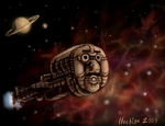 Spaceship Mrs. Henrikson by hectigo