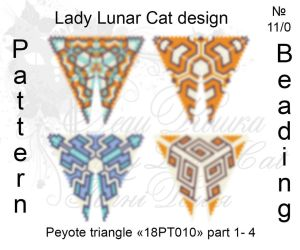 Peyote triangle 18PT010 part 1-4 by LadyLunarCat
