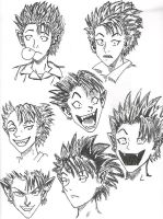 The Many Faces of Hiruma by swankivy