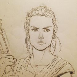 Rey sketch by acidbetta