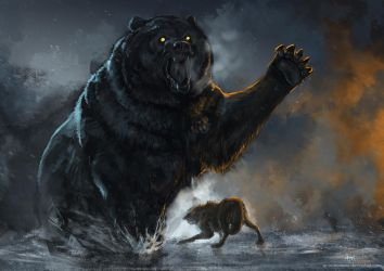 Bear Fight by waltwoor