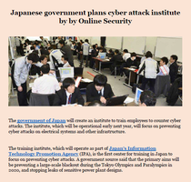 Japanese government plans cyber attack institute by levicrisp05