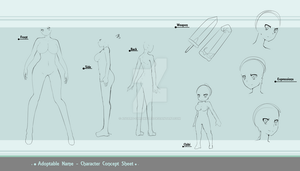 Character Concept Sheet sketch by Asgard-Chronicles