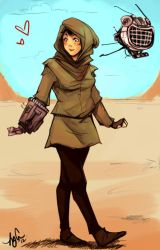 Lady in Wastes by Momo-Deary