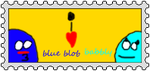Blue Blob And Babbly Stamp by Luigiamaro19234