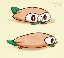Rowlet in pancake mode by calweir