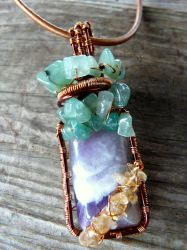 Amethyst Wire wrapped Pendant by Naldor