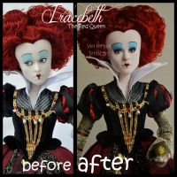 repainted ooak red queen iracebeth doll. by verirrtesIrrlicht