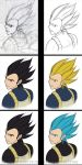 Vegeta evolution WIP by Phoenixtsubasa