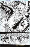 TEEN TITANS 94 2/3 Pg Splash! Demonic critters by DRHazlewood