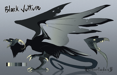 Black Vulture Wyvian [CLOSED] by Libertades