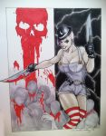 Psycho Clown Chick by DKHindelang