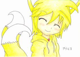 Tails as a human by TempestMoonXx