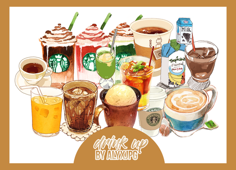 Drink Up! PNG Pack by alyxjpg