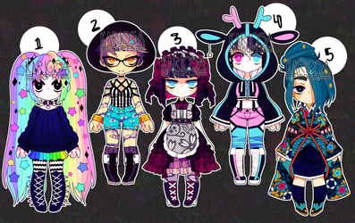 (closed) - Set Price Girls by Kariosa-Adopts