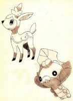Deerling and Sewaddle