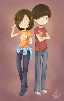 Brother and Sister by isparklehearts